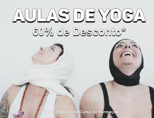 Ganhe 60% de Desconto em Aulas Regulares de Yoga